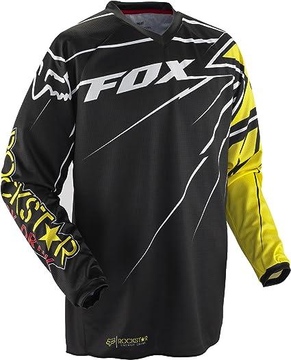 Fox HC Rockstar - Camiseta, Hombre, 02371-019-S, Negro/Amarillo, Small: Amazon.es: Deportes y aire libre