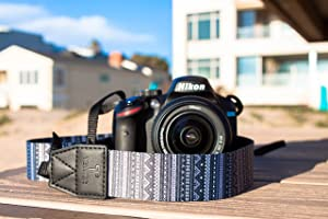 TETHER Aztec Design Camera Strap for DSLR or SLR Camera, DSLR Camera Strap. Camera Accessories. Canon Camera Strap. Nikon Camera Strap (The Aztec)