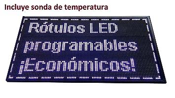 Cartel LED PROGRAMABLE (96x48 cm + Sonda Temperatura ...