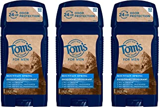 product image for Tom's of Maine Long-Lasting Aluminum-Free Natural Deodorant for Men, Mountain Spring, 2.8 oz. 3-Pack