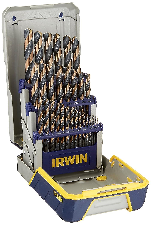 IRWIN Tools 3018005 Black & Gold Metal Index Drill Bit Set, 29pc Pro Case