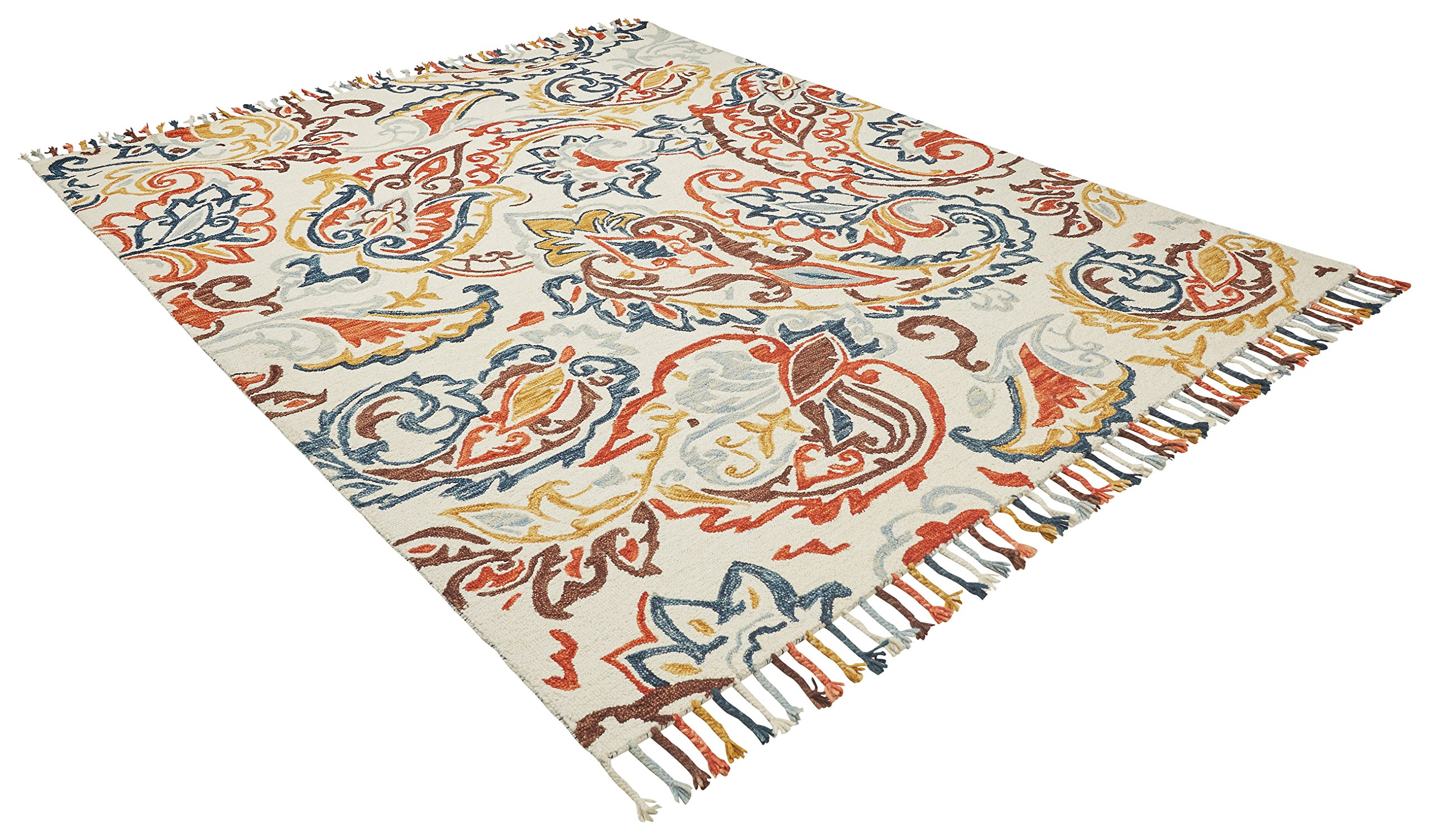 Stone & Beam Swirling Paisley Motif Wool Area Rug, 8' x 10', Multi by Stone & Beam (Image #4)