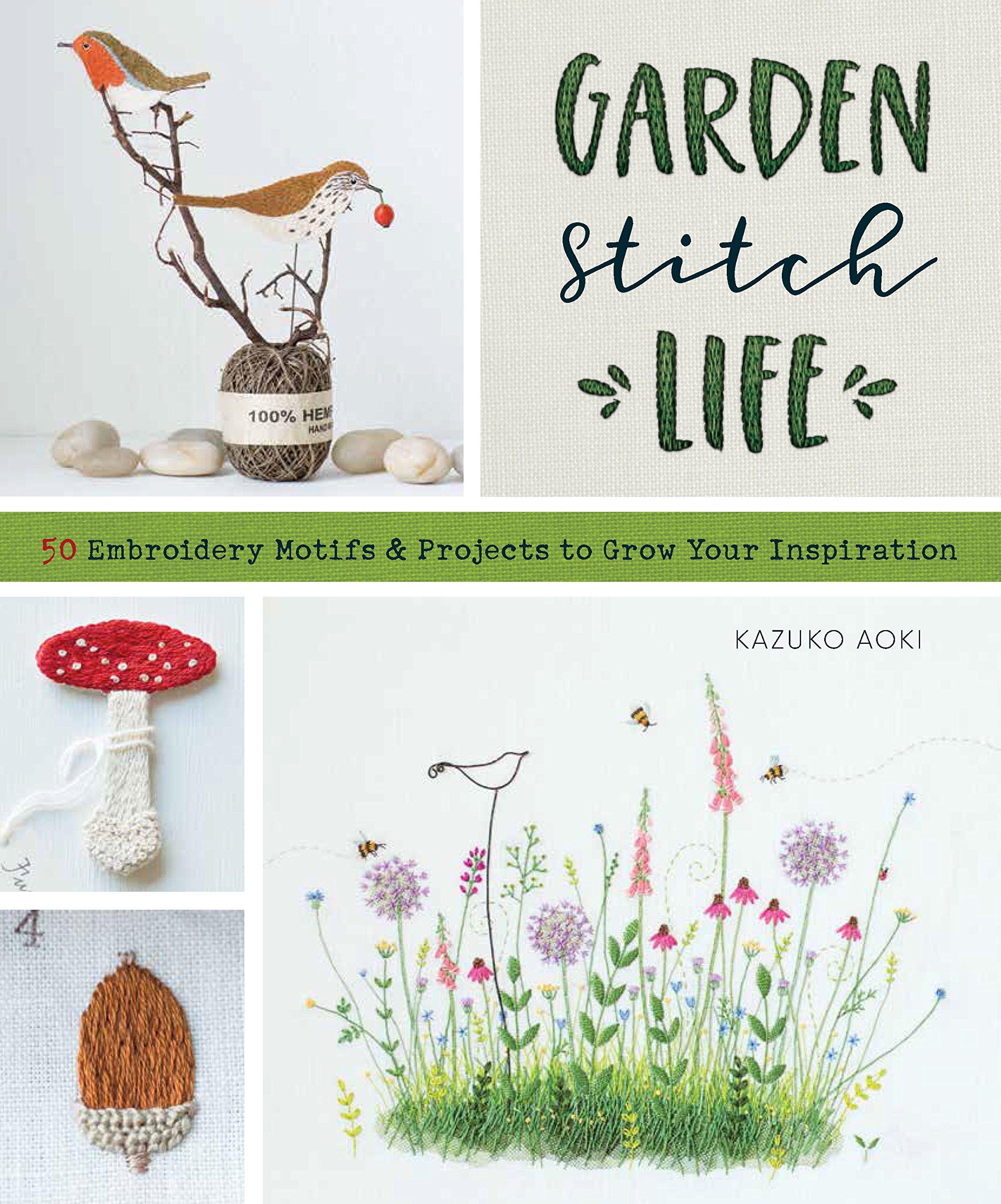 Embroideed Kitchen Garden by Kazuko Aoki //Japanese Craft Pattern Book w//Track#