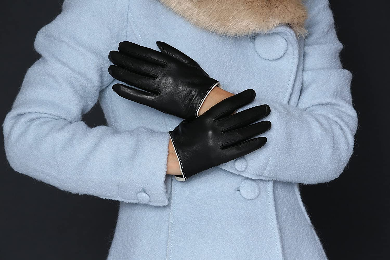 Driving gloves london ontario - Moda Ms Rome Women S Genuine Leather Gloves With Cut Off Cuffs At Amazon Women S Clothing Store