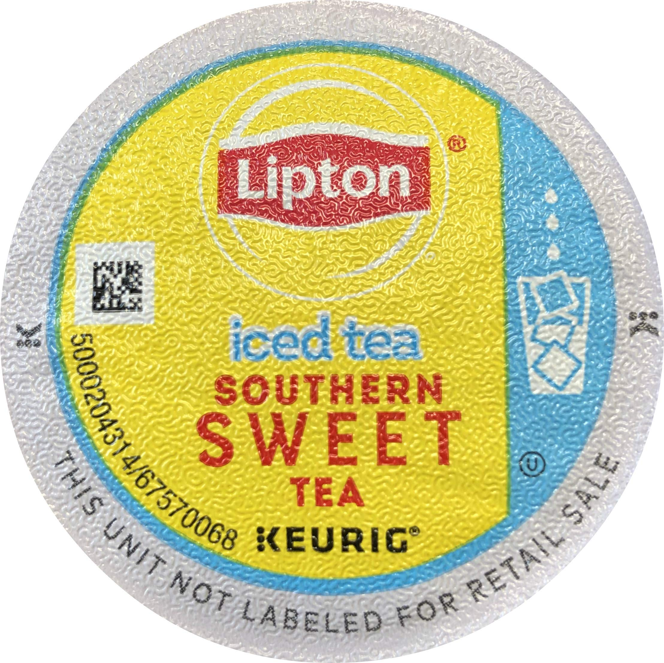 Lipton Iced Southern Sweet Tea single serve pods for Keurig K-Cup pod brewers, 88 Count by Lipton