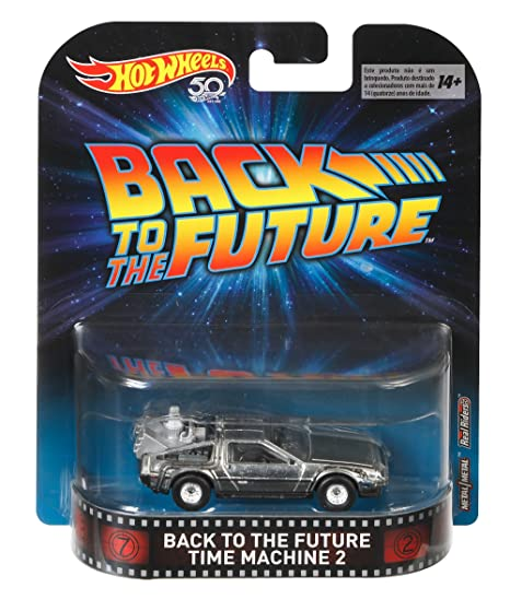 Modelo del Coche Delorean Time Machine 2 DE Regreso AL Futuro 2 - Escala 1: