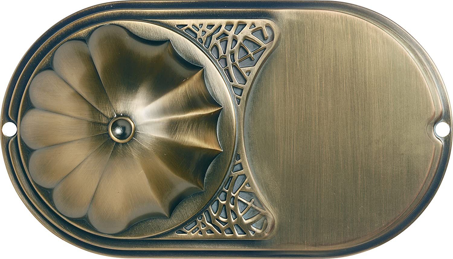 Antique Brass Finial Hunter Fan Amber Gradated with Weathered Bronze Hunter 28549 12-Inch Bowl