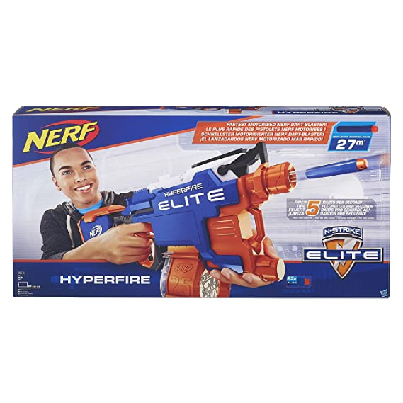Nerf N Strike Elite Hyperfire Blaster (Multicolour) Blasters & Toy Guns at amazon