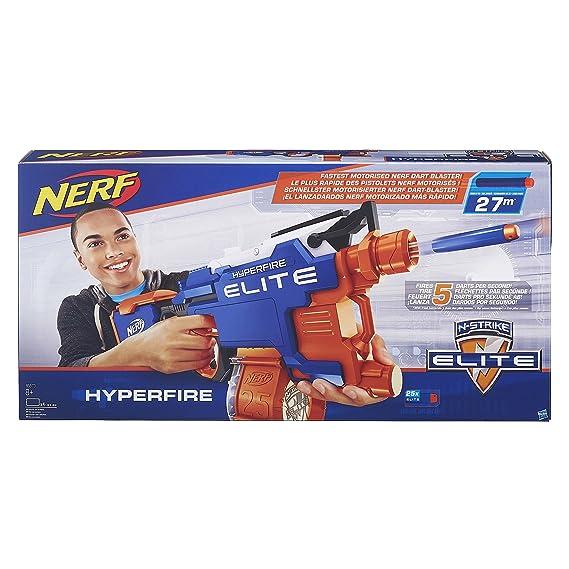 Nerf N Strike Elite Hyperfire Blaster (Multicolour) Blasters & Toy Guns at amazon