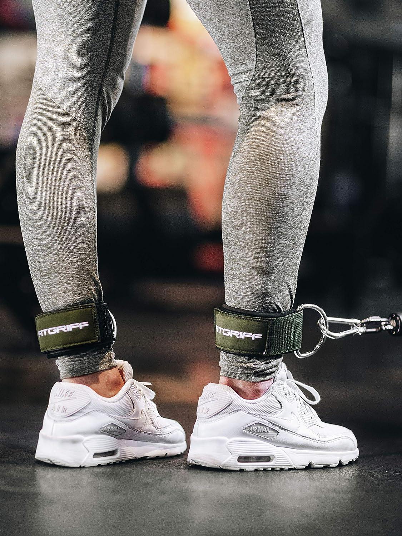 gepolstert Fitgriff Komfort Fu/ßschlaufen Fu/ßfesseln f/ür Damen und Herren - f/ür Fitness Training am Kabelzug