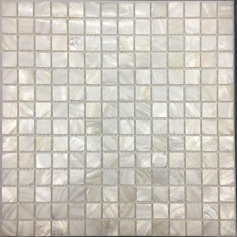 - Amazon.com: Fiyo Squares Nature Shell Mosaic Tile [ Groutless