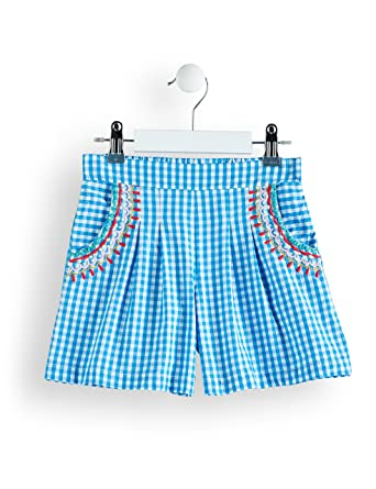 Brand RED WAGON Girls Embroidered Cotton Gingham Playsuit