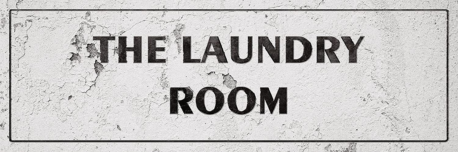 iCandy Combat Vintage The Laundry Room Laundry Room Distressed Sign Wall Decor for Country Farmhouse On 12x36 Aluminum