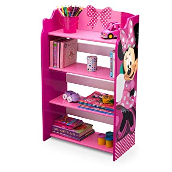 Beautiful Disney Minnie Mouse Storage Bookshelf