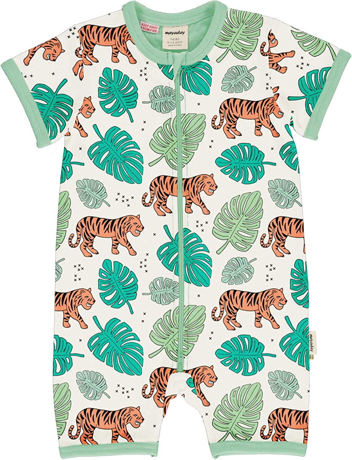 Meyadey Short Sleeved Rompersuit Tiger Jungle