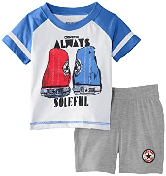 Converse Baby Boys 0 24m Athletic Set Iiii Clothing Vintage Grey