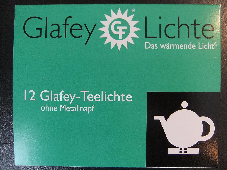 12er Pack Teelichte Brenndauer 8 Stunden Wachs Gastronomie Glafey Teelichter Nr.37