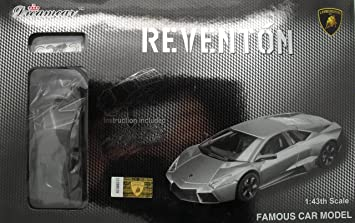 Pro Team 1 43 Lamborghini Reventon Silver Self Assembly Car Model