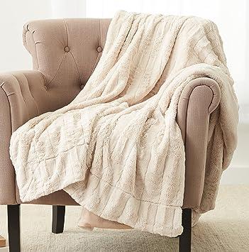Astounding Pinzon Faux Fur Throw Blanket 63 X 87 Inch Ivory Bralicious Painted Fabric Chair Ideas Braliciousco