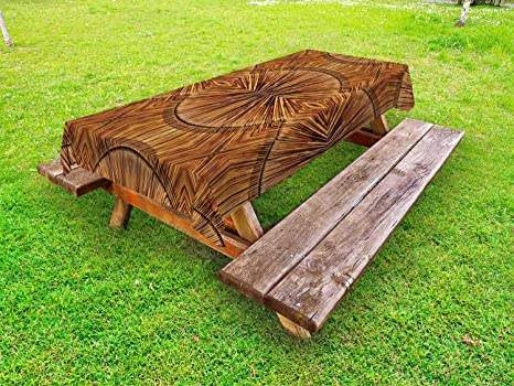 Astounding Amazon Com Ambesonne Tribal Outdoor Tablecloth Boho Bamboo Gmtry Best Dining Table And Chair Ideas Images Gmtryco