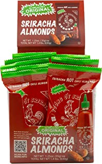 product image for Original Huy Fong Sriracha Hot Chili Almonds, 1.25 Ounce (18 Count) …