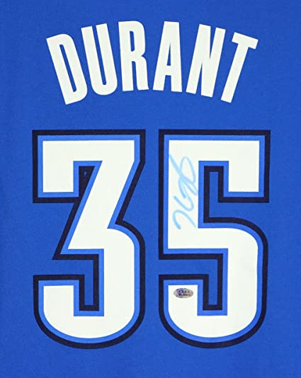 d88587c1f Kevin Durant Oklahoma City Thunder Autographed Blue  35 Jersey PAAS ...