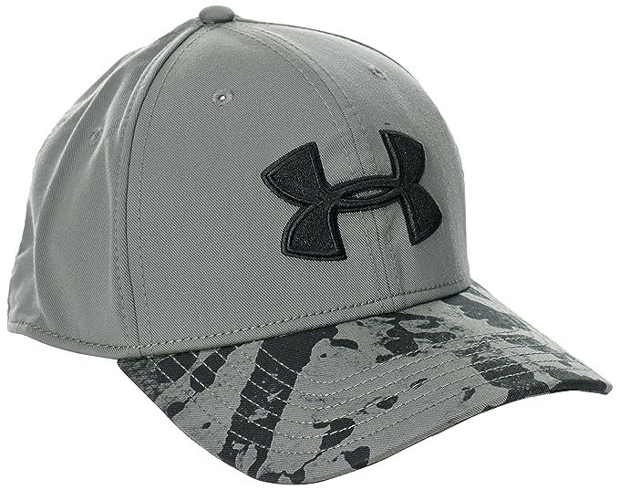 182dd5c288b Under Armour 2014 Mens UA Drizzle Stretch Fit Cap Camo Print Hat grey  Graphite black black Size FR   L (Taille Fabricant   L XL)  Amazon.co.uk   Sports   ...