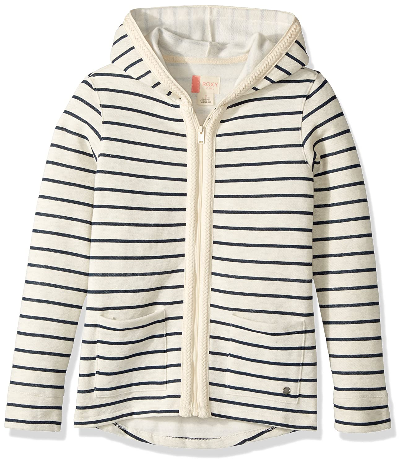 Metro Heather Heaven  Roxy Sweat à capuche zippé Fullofstripe pour fille