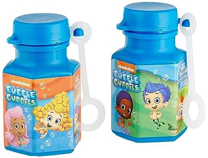 Aqua Awesome Bubble Guppies Party Mini Bubble Favours, Plastic, 0.6 Ounces