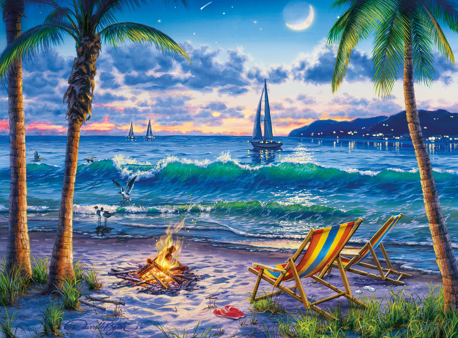 Buffalo Games - Darrell Bush - Coastal Twilight - 1000 Piece Jigsaw Puzzle by Buffalo Games