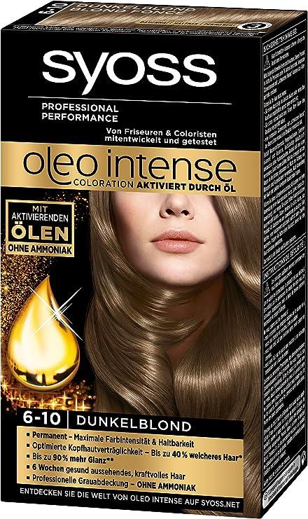 Syoss Oleo intensa coloración 6-10 Rubio oscuro, 3-pack (3 x ...