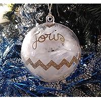 Boule de Noël à personnaliser, Prénom au choix argentée