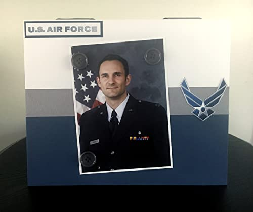 Amazon Com U S Air Force Military United States Pilot Fathers Day Airplane Fighter Soldier Handmade Magnetic Picture Frame Holds 5 X 7 Photo In 9 X 11 Handmade