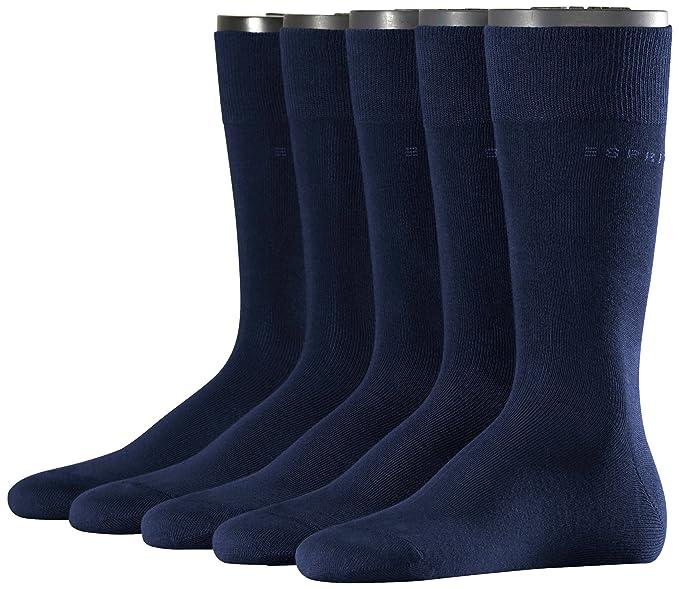 Esprit Uni - Calcetines Hombre, pack de 5 unidades, color azul (marine 6120