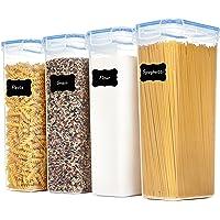 Vtopmart 2,8 L behållare för behållare för förvaring, plast BPA-fri kök skafferi mjöl förvaring, förvaring av torrmat…