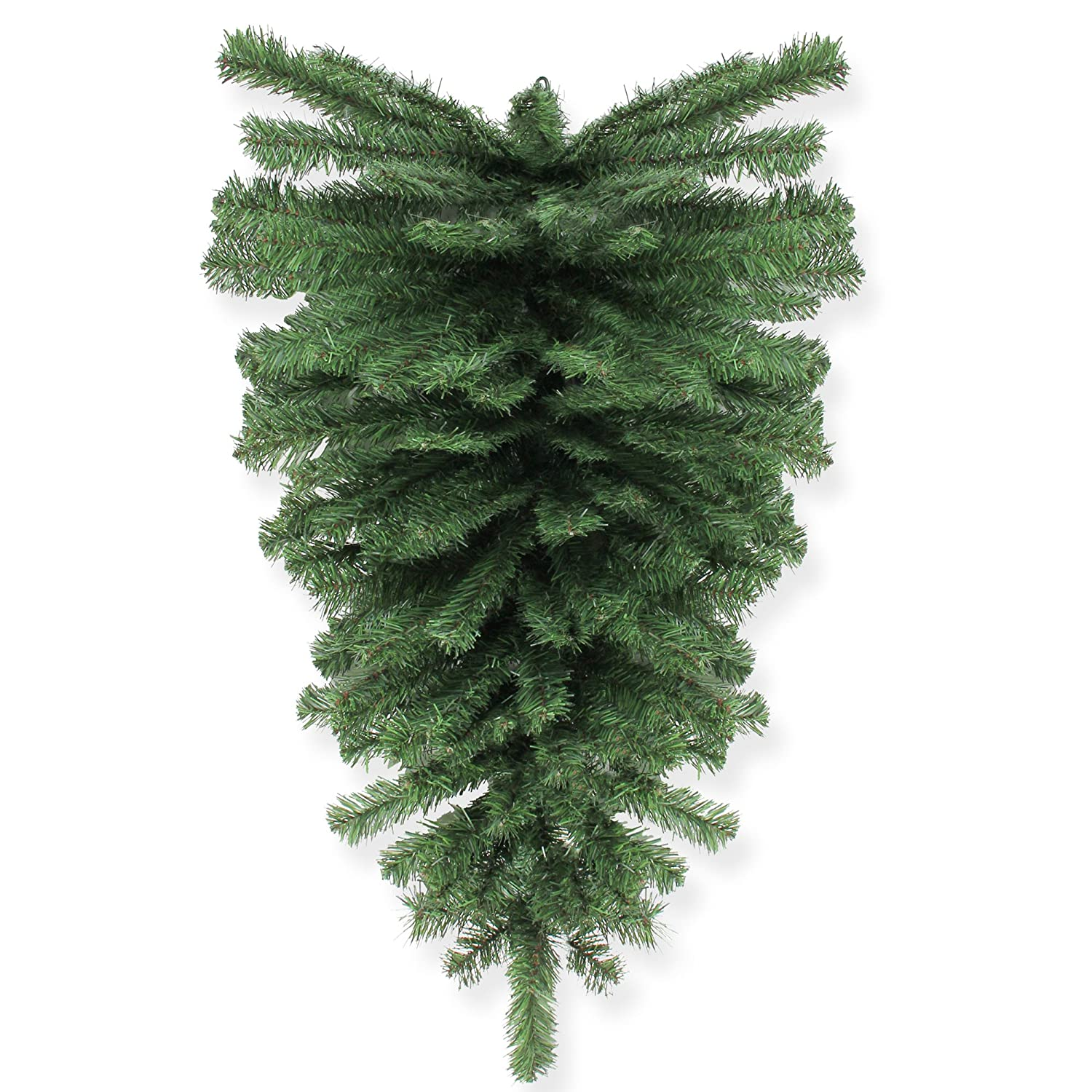 "Northlight 32"" Canadian Pine Artificial Christmas Teardrop Swag - Unlit"