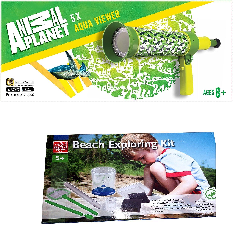 Animal Planet Wasserskop mit LED Wasserteleskop für Kinder und Strandexperimente Set