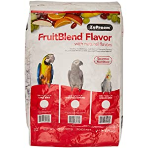ZUPREEM Fruitblend Large Parrot Food, 17.5-Pound