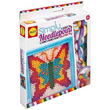 bf0d70e8008d9 ALEX Toys Craft Simply Needlepoint - Butterfly (395-B)