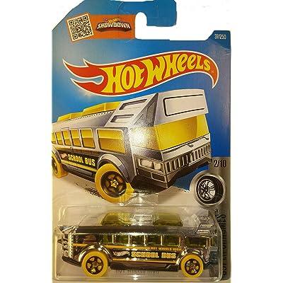 Hot Wheels, 2016 Super Chromes, High School Bus [Chrome] Die-Cast Vehicle #37/250: Toys & Games