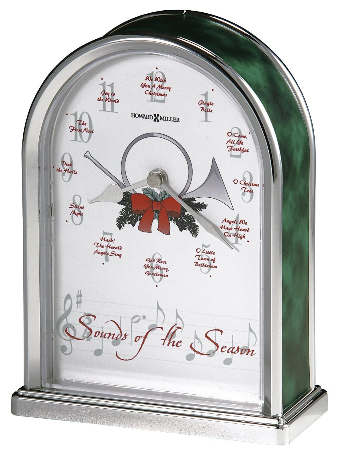 Amazon.com: Howard Miller 645 687 Sounds Of The Season Christmas Clock By:  Home U0026 Kitchen