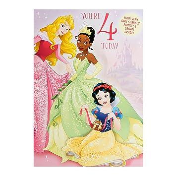 hallmark disney princess 4th birthday card make your own crown
