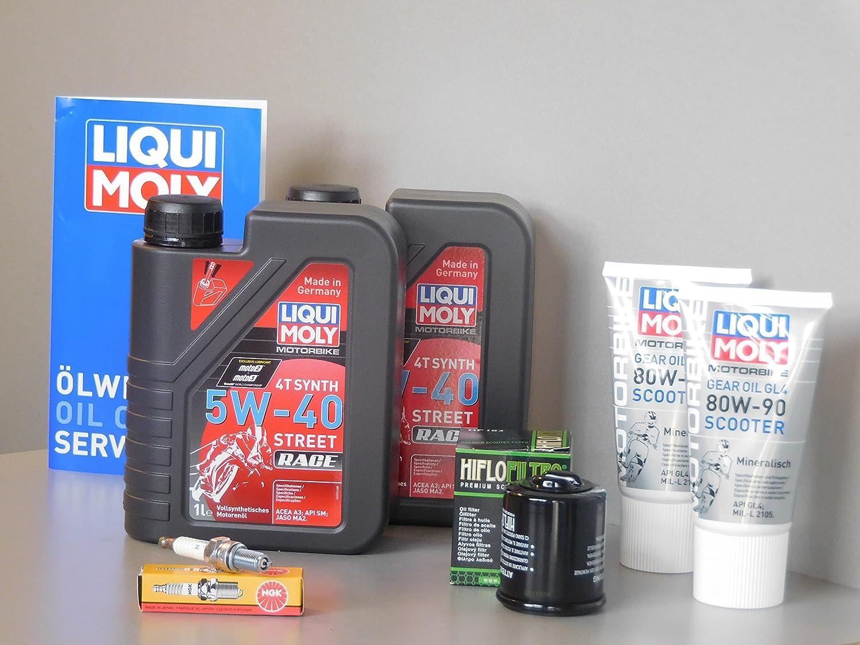 Mantenimiento Set Aprilia Sr Max 125 Aceite de aceite Bujía Inspección Service Roller: Amazon.es: Coche y moto