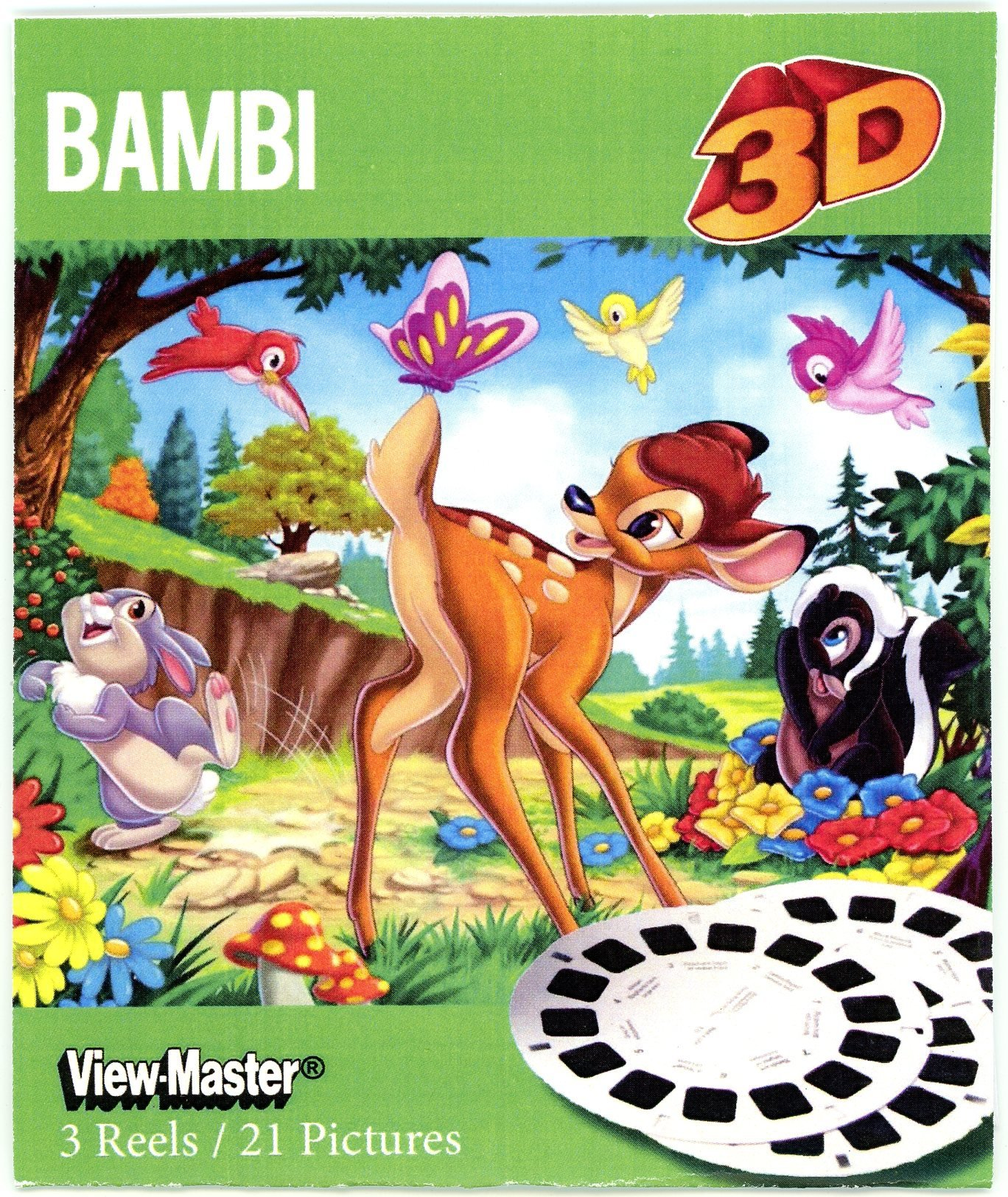 ViewMaster- Disney's Bambi - 3 Reels on Card - NEW by 3Dstereo ViewMaster