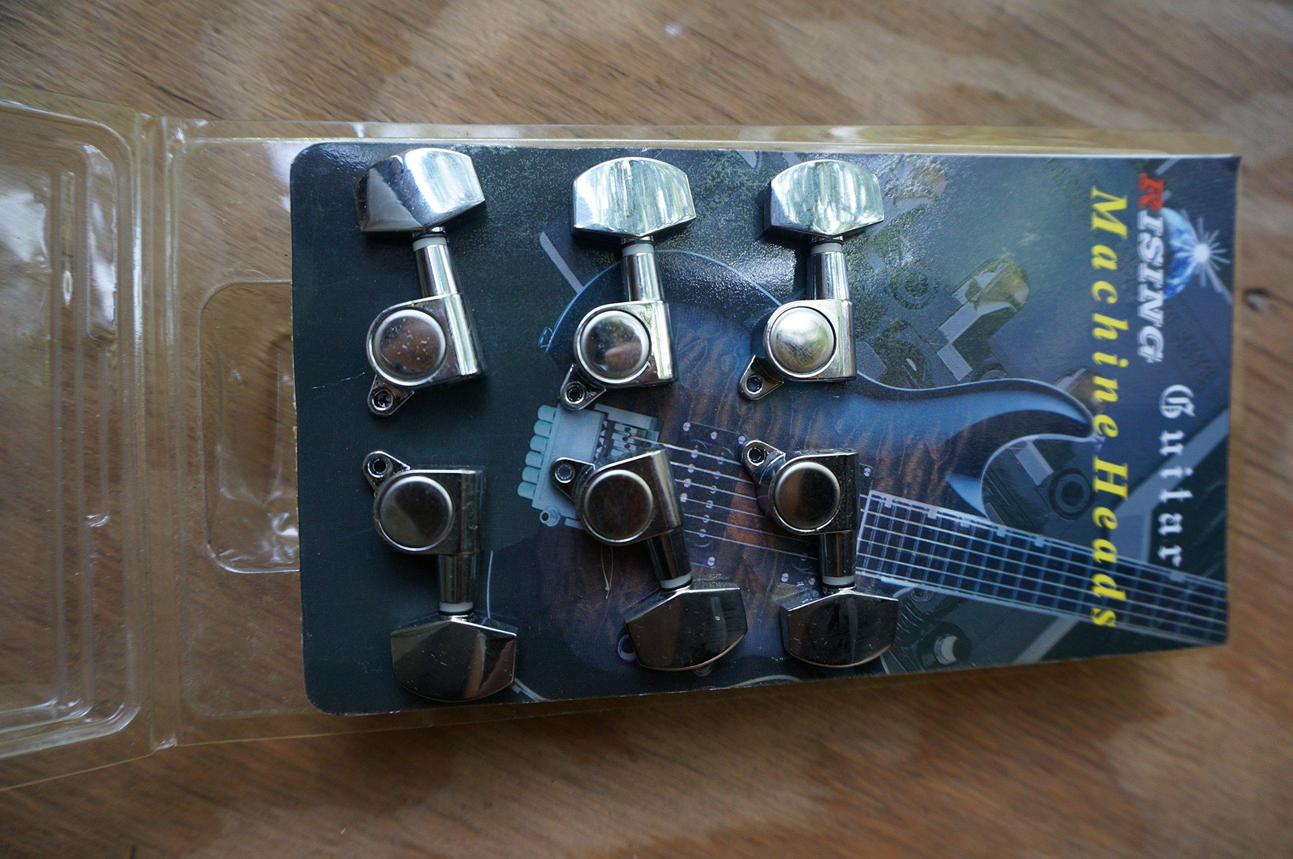 New guitar machine head, 6 piece, 3 + 3