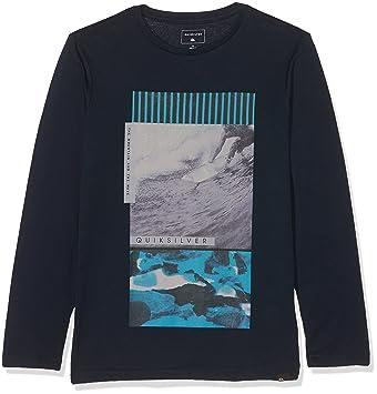 Quiksilver LS Classic tee YTH Jem Barrel Camiseta de Manga Larga, niños, Azul (