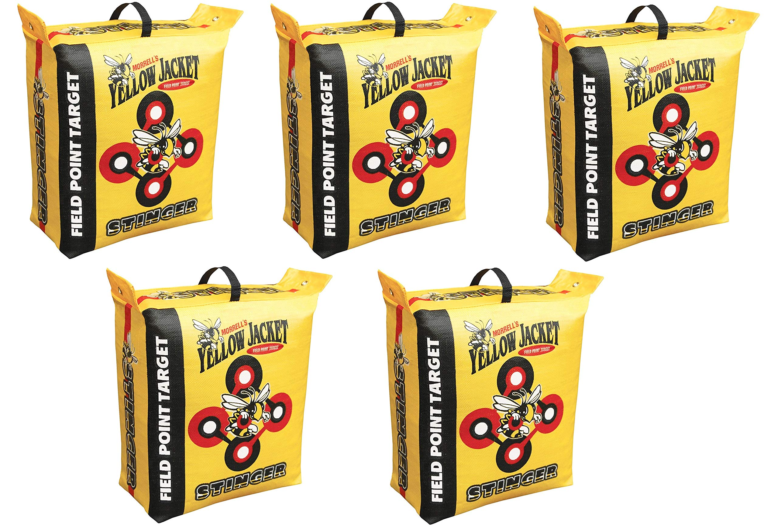 Morrell Yellow Jacket Stinger Field Point Bag Archery Target - Great for Compound and Traditional Bows (5-Pack) by Morrell