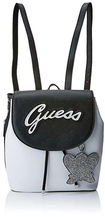 Guess - Bags Hobo, Bolsos mochila Mujer, Varios colores (White Multi),