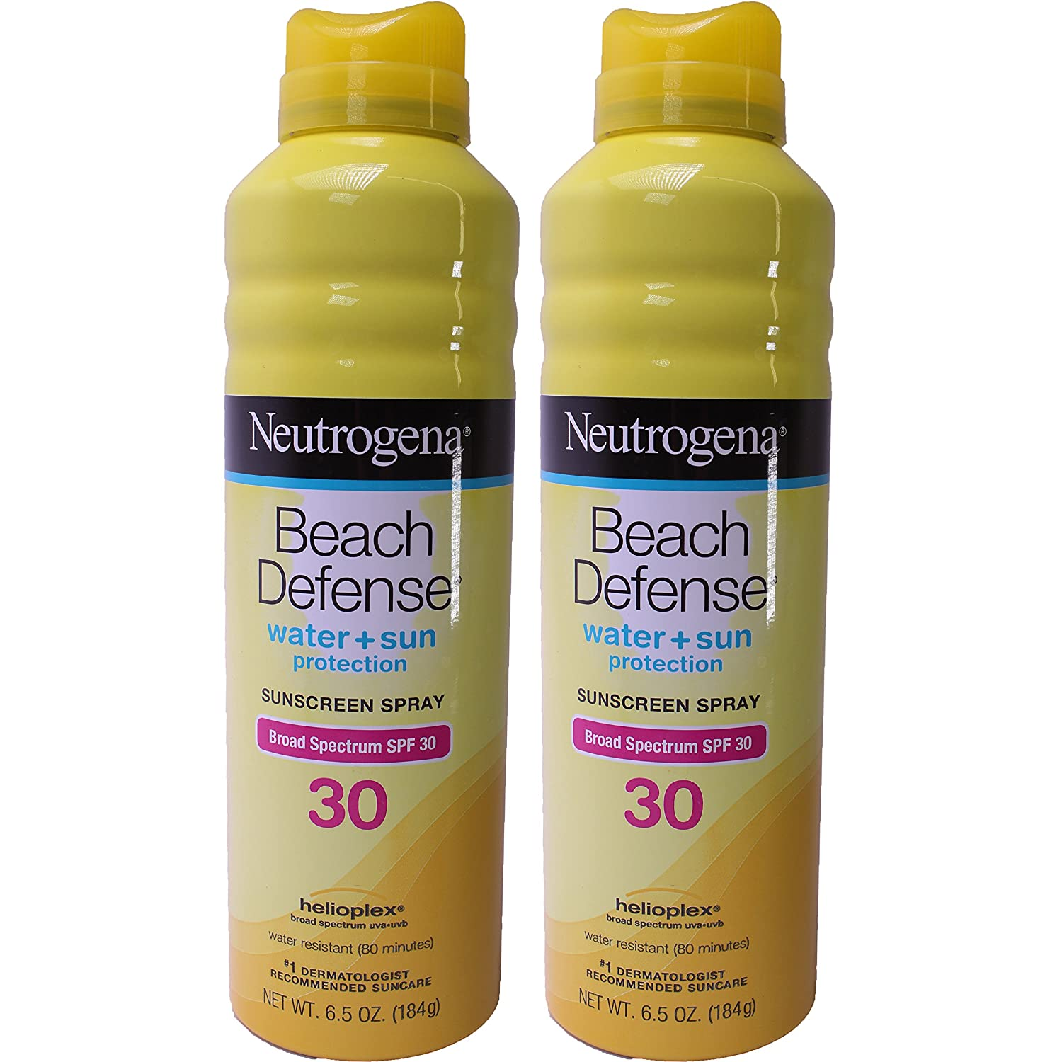 Neutrogena Beach Defense Spf#30 Spray 6.5 Ounce (192ml) (2 Pack)