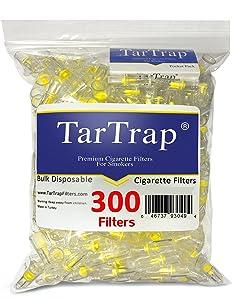 TarTrap Disposable Cigarette Filters - Bulk Economy Pack (300 Per Pack)